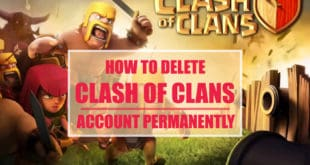 how to delete clash of clans